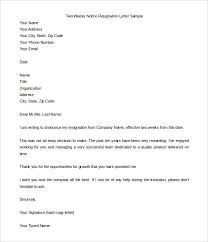 week resignation letter email resignation letter resignation  two weeks notice resignation letter templates