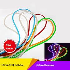 1 10m 12VDC 2.5CM Cut color housing led <b>neon</b> flex tube ,strip light ...