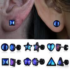 1 Pair Cute <b>Female Crystal Zircon Stone</b> Earrings Fashion Earrings ...