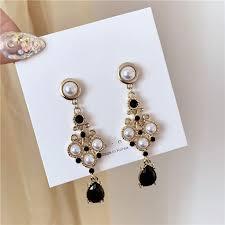 2020 <b>Yang Liujia</b> jewelry original long tassels <b>fashion</b> stud earrings ...