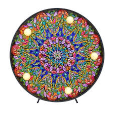 DIY <b>LED Diamond</b> Painting Full Special Shaped Drill Mandala ...