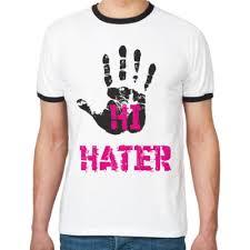 <b>Футболка</b> Ringer-T <b>HI</b> HATER / BYE HATER купить на Printdirect.ru ...