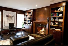 15 warm and cozy home office designs with fireplaces amazing retro home office design