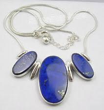 Ляпис <b>цепь ручной работы из</b> стерлингового серебра ожерелья и ...
