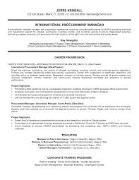 Free International Procurement Manager Resume Example JobAspirations com