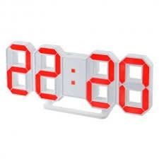 "<b>Perfeo</b> LED <b>часы</b>-будильник ""<b>LUMINOUS</b>"", белый корпус / красная ..."