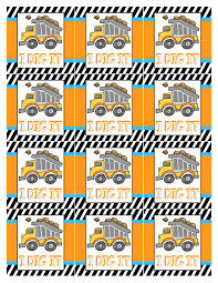 construction themed birthday party printables how to construction party tags
