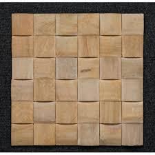 "Natural Stone Mosaic - Teak Moulding ""D"" <b>Pattern Stone Wall</b> ..."