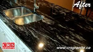 Titanium Granite Kitchen Crs Granite Before After Titanium Granite 3 4 2cm Youtube