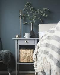 ideas bedside tables pinterest night: our bedroom with dark walls and ikea hemnes bedside table hack