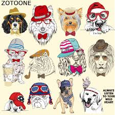 ZOTOONE <b>Iron</b> on <b>Patches</b> for Clothing <b>Cute Animal Dog</b> Heat ...