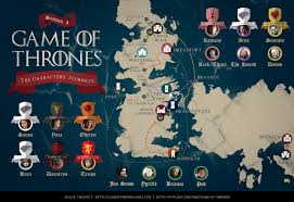 this map of the characters journeys this season well the characters who made journeys anyway characters like cersei who just sat there and ruined braavos map game thrones