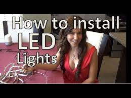 How to install <b>LED</b> Strip Lights – Under <b>Cabinet LED</b> Strip - YouTube