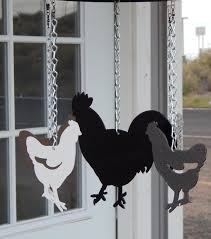 chickens lay deviled eggs country farm chicken wind chime kit diychicken coop decorcoop decorchicken silhouet