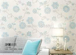 room elegant wallpaper bedroom: d three dimensional embossed wallpaper blue flower bedroom living room elegant wallpaper electric mixer in wallpapers from home improvement on