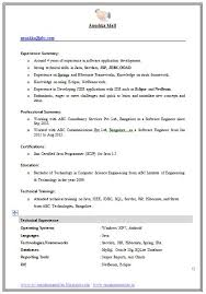 example template of an excellent computer science engineer    example template of an excellent computer science engineer experienced resume format   great job profile and
