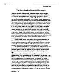 the shawshank redemption film review    gcse english   marked by    page