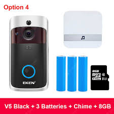 EKEN V5 Smart IP Video Intercom WIFI Video <b>Door</b> Phone <b>Door</b> Bell ...