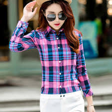 Выгодная цена на women's plaid shirt — суперскидки на women's ...