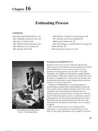chapter 16 estimating process