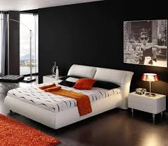 red wall paint black bed:  fabulous images of cool bedroom for guys design cool image of black and white cool