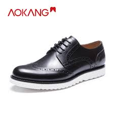 <b>AOKANG New Arrival</b> Men Shoes leather genuine men casual ...