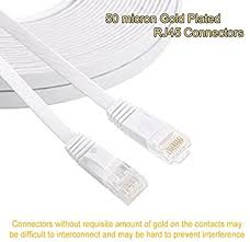 Cat 6 Ethernet Cable 50 ft White - Flat Internet ... - Amazon.com