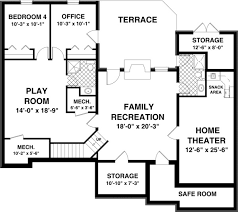 House Plan at FamilyHomePlans comCraftsman Traditional House Plan Lower Level