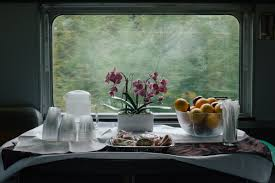 Image result for breakfast on train