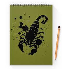 """Блокнот на пружине А4 """"<b>Скорпион</b> (24.10-21.11)"""" #2285480 от ..."""