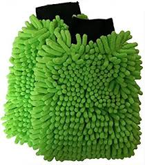 SOBBY Microfibre <b>Wash</b> and Dust <b>Chenille Mitt Cleaning Gloves</b> (2 ...