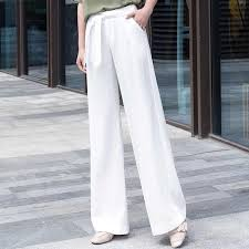white wide leg <b>pants</b> women 2019 <b>summer thin plus</b> size office lady ...
