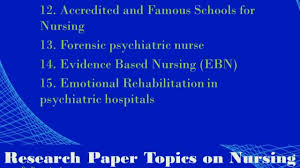 Research Paper Topics on Nursing   YouTube Research Paper Topics on Nursing