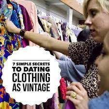 The 7 <b>Simple</b> Secrets to Dating <b>Clothing</b> as <b>Vintage</b>