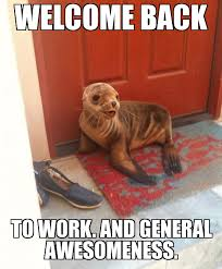 Jehovah Seal | WELCOME BACK To work. And general awesomeness ... via Relatably.com