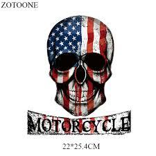 <b>ZOTOONE US</b> Flag Skulls Washable Clothing Badges Decor Diy ...