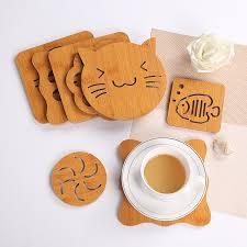 Heat Isolation <b>Coasters</b> Pot <b>Mat</b> 21Patterns Hot Sale Bowl <b>Wood</b> ...