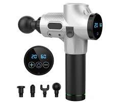 <b>LCD</b> Electric <b>Massage Gun</b> 4 Heads 2600mAh Vibration Muscle ...