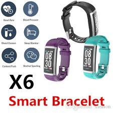 <b>X6</b> Smart <b>Bracelet</b> Watch <b>Band</b> Bluetooth Waterproof Heart Rate ...