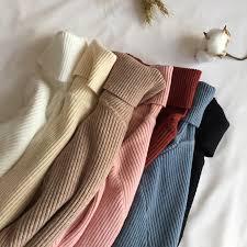 Online Shop <b>2019 Autumn Winter</b> Thick <b>Sweater</b> Women Knitted ...