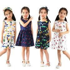 Fashion <b>Summer</b> Cotton Cherry Bow Decor Princess <b>Dress</b> Floral ...