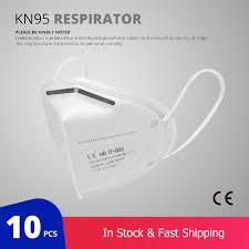 <b>10 Pcs KN95</b> Face <b>Masks</b> Dust Respirator <b>KN95</b> Mouth <b>Masks</b> ...