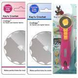 Kay' Crochet Edge Flannel Skip Blade with <b>45mm Rotary Cutter</b> ...