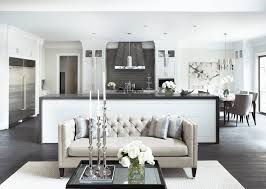 black tufted sofa living room transitional with beige couch ceiling lighting black beige living room