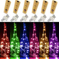 Yitee <b>6 PCS</b> 6 Colors LED String Light, Battery Operated Wine <b>Bottle</b>