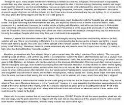 essay on the iliad  essay   the godsessay questions the iliad   alex henley