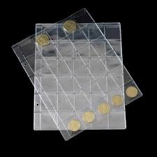 <b>5pcs</b>/<b>lot New</b> style <b>Clear</b> 30 Pocket Coins Stamp Currency Protector ...