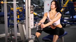 Фитнес. Упражнения для спины. <b>Тяга</b> нижнего блока. - YouTube