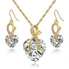 Gift! Gold Plated necklace Sets For Women Crystal ... - Amazon.com