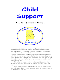Voluntary Child Support Agreement Form - 2 Free Templates in PDF ... Child Support - A Guide to Services in Alabama